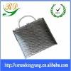 silver Ice bags/Cooler handle bags/silver handle bags/Aluminium foil cooler bags/esd shine aluminum foil bag/