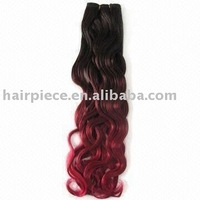 Chinese remy T color Italian curl human hair extension