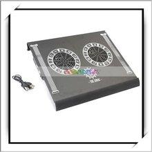 Zodiac 2 Quiet Cooling Fans Cooler Pad Black For Laptop