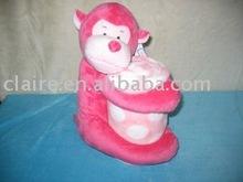 plush monkey toy with blanket
