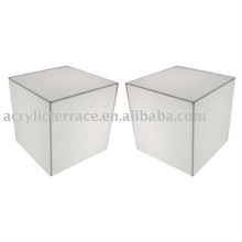 Lighted Acrylic Cube Side Tables