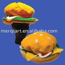 moda cheeseburger divertido sombrero de carnaval