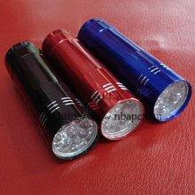 Mini 9 LEDs Aluminium Flashlight Handy Torch