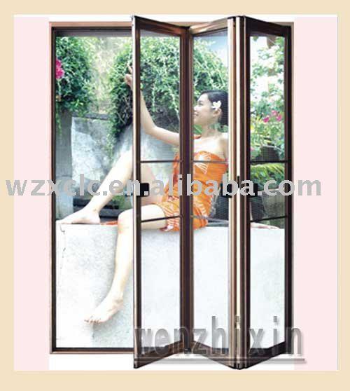 Luxury Aluminum Folding Screen Door Photo Detailed About