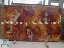 Multi Red Onyx Marble Slab Tiles