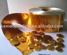 chocolate coin aluminium foil