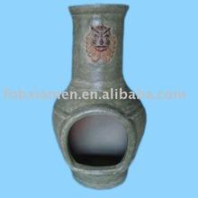 clay terracotta chiminea