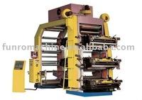high speed stack type flexo printing machine