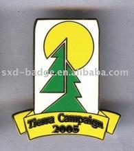 Environmental protection enamel badge