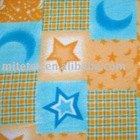 stars & moon printed fleece fabric