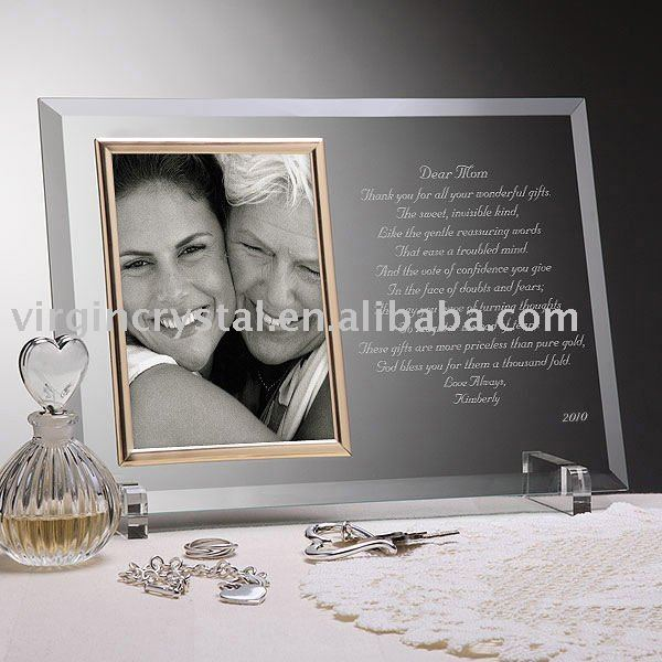 crystal ny photo frames engraved 65000 personalized - Engraved Photo Frame