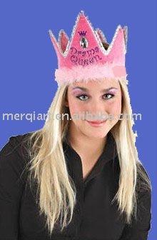 divertido de cumpleaños de la torta de la corona sombreros