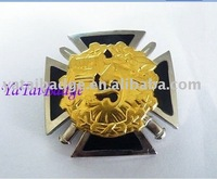 germany cross with lion head metal badge