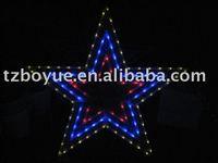 Solar led pentagram/star light