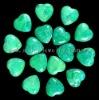 C115 Green Howlite Heart Cabochon heart-shaped semi-precious gemstone