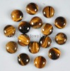 C120 Tiger's Eye Jasper Puffy Coin Cabochon semi-precious gemstone