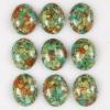 C129 Blue Howlite Puffy Oval Cabochon semi-precious gemstone