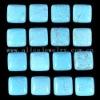 C140 Blue Howlite Puffy Square Cabochon semi-precious gemstone