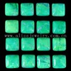 C144 Green Howlite Puffy Square Cabochon semi-precious gemstone
