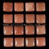 C145 Golden Sand Stone Puffy Square Cabochon semi-precious gemstone