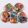 C158 Flame Jasper Puffy Rectangle Cabochon semi-precious gemstone