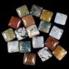 C175 Ocean Jasper Puffy Square Cabochon semi-precious stone