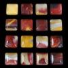 C188 Mookaite Jasper Puffy Square Cabochon semi-precious gemstone