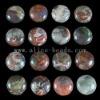 C191 Blossom Agate Puffy Coin Cabochon semi-precious gemstone