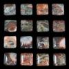 C193 Blossom Agate Puffy Square Cabochon semi-precious gemstone
