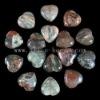 C194 Blossom Agate Puffy Heart Cabochon semi-precious gemstone