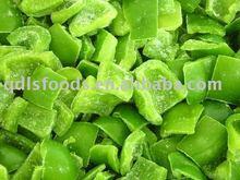 Frozen diced green pepper