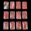 C202 Volcano Cherry Quartz Rectangle semi-precious Cabochon gemstone