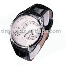 OEM18-1017 eco drive watch Dual Time Zone Classic Leather Watch