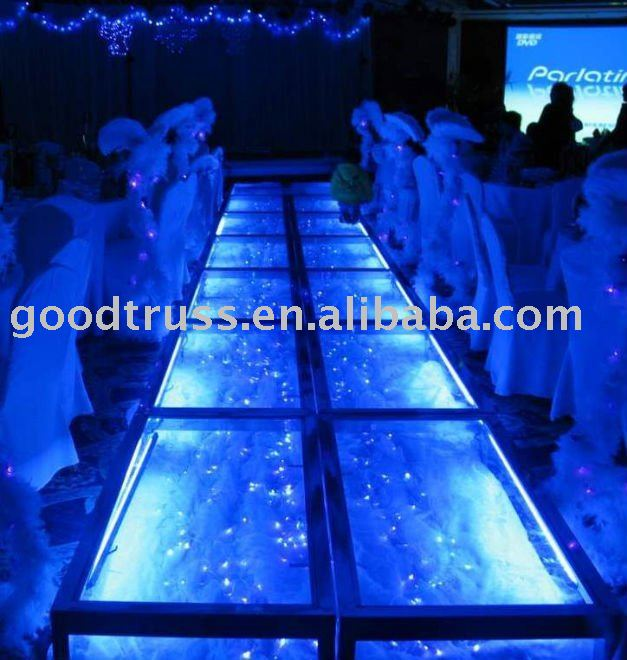aluminum clear Acrylic glass stage wedding decoration