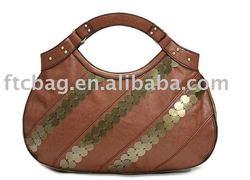 Special handle sequin design ladies fancy bags
