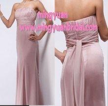 2012 New Design Discount Pink Chiffon A-line evening Prom dress