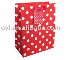 Red dot shopping bag