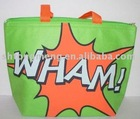 Pop Art Themal Tote, Insulated Lunch Bag, Cooler, WHAM! Green and Orange(IC-F16)
