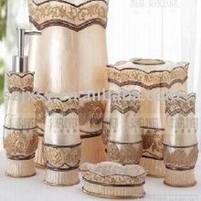 Top quality bathroom crafts,resin bathroom set ,poly decoration
