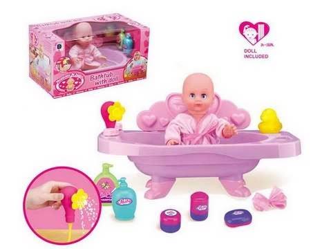 baby doll em banheira bonecas id do produto 431302432. Black Bedroom Furniture Sets. Home Design Ideas