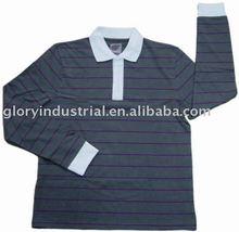 men's plain color bulk polo shirts with long sleeve