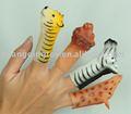 De plástico de los animales dedo marioneta, los animales del zoológico de diseño
