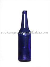 B0008 500ml beer glass bottle(sapphire)