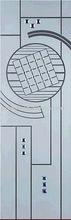 Bd-007 satinato decorativiintarsiin vetro per porte