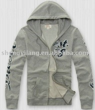 2012 men's fashion zipper-up hoodie jacket