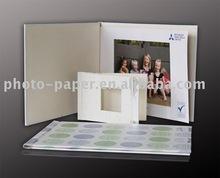 DIY photo book with adhesive stripe