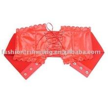 Fashion Female Tie Corset Red Elastic Belt #BLT4554