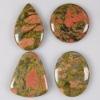 C272 Unakite jasper cabochon semi-precious gemstone