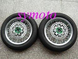 "pit bike parts, road wheels kit, front 12"" rear 12""."