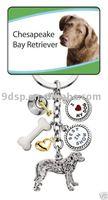 CHESAPEAKE BAY RETRIEVER dog pet 5 Charms Keychain key ring gift